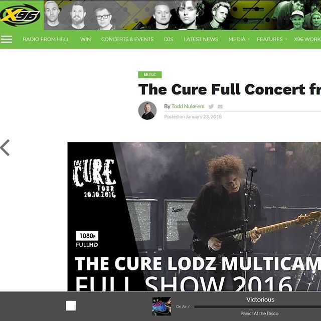 """The Cure Full Concert from 2016"" via x96.com #TheCure #Lodz #Multicam #free #fan #film #project #rock #pop #indie #goth #alternative #postpunk #80s #90s #music #video #instamusic #concert #live #press #portal #article #american #radiostation #usa #saltlakecity @robertsmith @thecure @martinmarszalek"