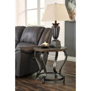 Shop for Signature Design by Ashley Volanta Caramel Round End Table. Get free shipping at Overstock.com - Your Online Furniture Outlet Store! Get 5% in rewards with Club O!