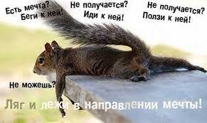Мінімум, що зможеш зробити, так це лежати у напрямі своєї мрії :))))