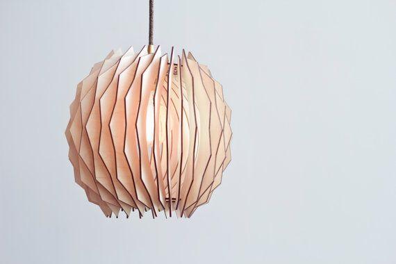 Il globo vacillata paralume  lampade di legno di ACockneyGentleman