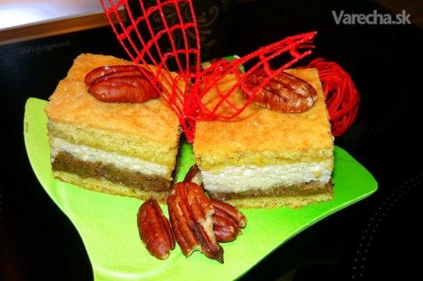 Tvarohovo-orechový koláč (fotorecept)