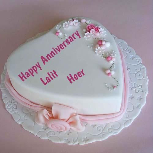 Write Couple Name On Anniversary Cake Pictures