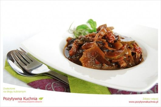 Ratatouille z grzybami - #przepis na #ratatouille i #grzyby  http://pozytywnakuchnia.pl/ratatouille-z-grzybami/  #kuchnia #obiad