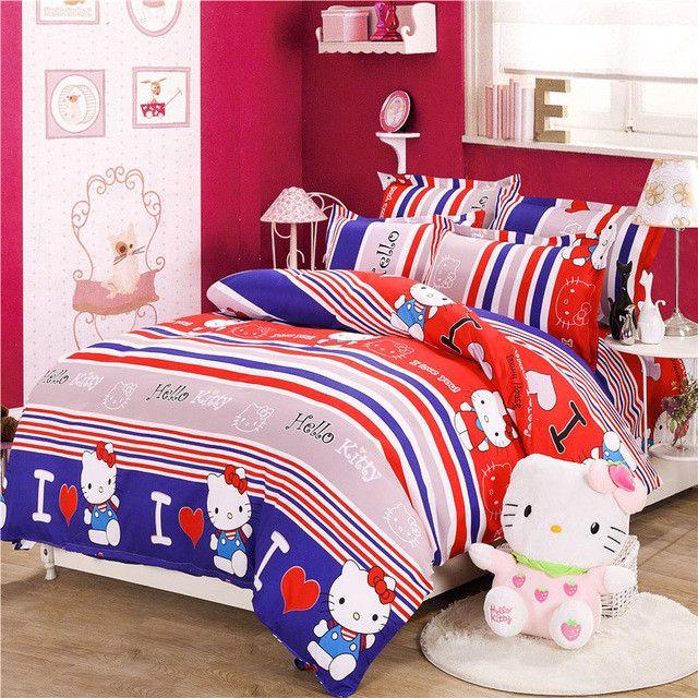 4pcs kids bedding set queen size comforter bedding set Full Queen Bed linen Bedclothes Duvet Cover set