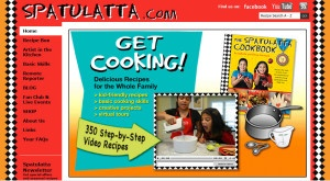 www.spatulatta.com is fun and friendly kids learn to cook website with great recipes to try.