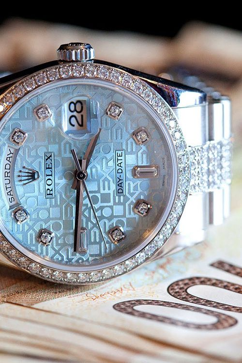 Platinum & Diamond Rolex Dial Day-Date Watch