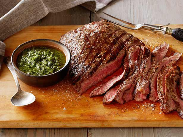 Argentinean Steak with Parsley Sauce: Carne y Chimichurri from FoodNetwork.com