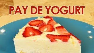 pay de yogurt con frutas musas - YouTube