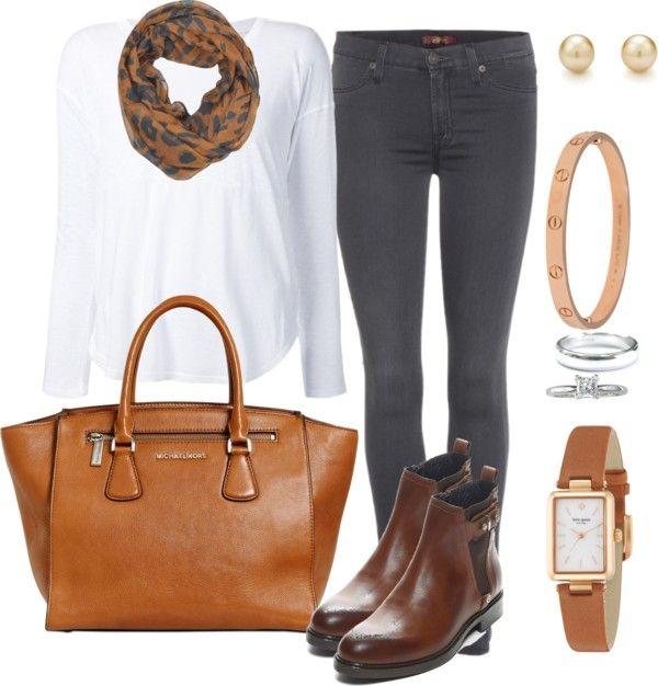 Andrea Moda y Asesoría: Blusa Blanca Pantalon gris FW 15-16