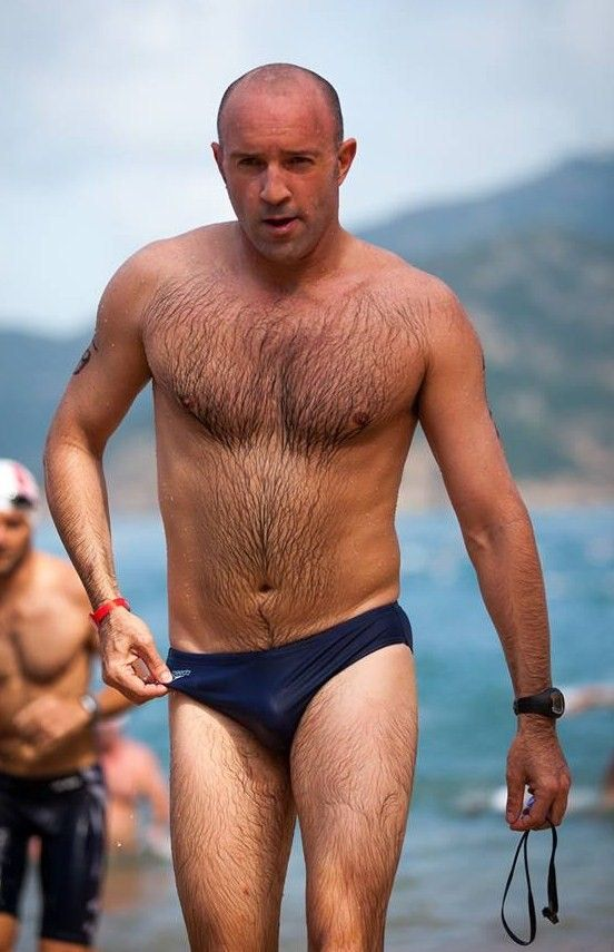 Sexy Older Men Hairy Chest Speedo Wet Bears Dads