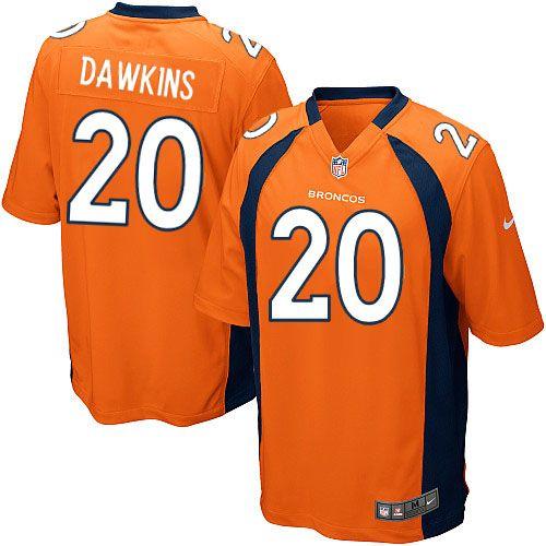 Men's Nike Denver Broncos #20 Brian Dawkins Limited Orange Team Color NFL Jersey Sale