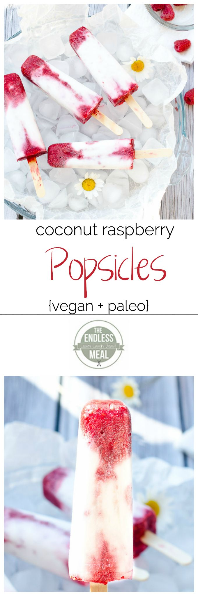 Coconut Raspberry Popsicles: 1 cup fresh raspberries; 3 teaspoons honey, divided; 1 cup full-fat coconut milk - without guar gum is best |