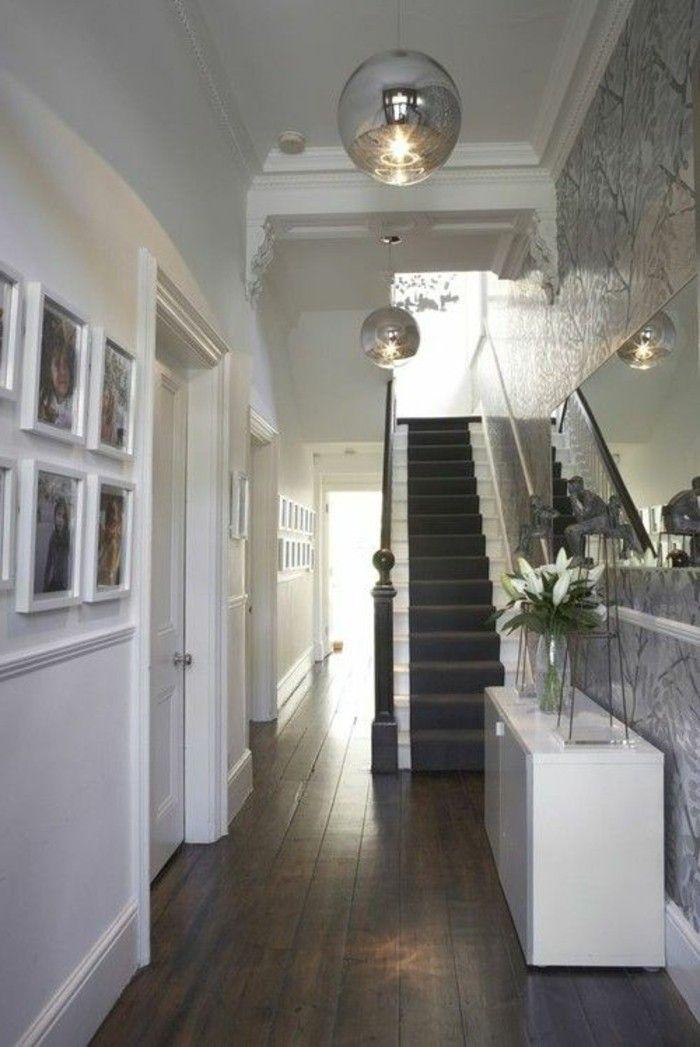 dunklen flur heller gestalten weie farbe und tapeten - Reizend Wandfarbe Wohnzimmer Ausfuhrung