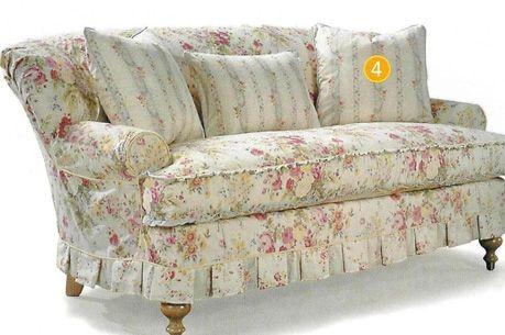 Cottage Style Overstuffed Sofa   OVERSTUFFED SOFAS - SOFAS, SOFA PHOTOS