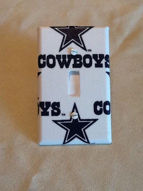 Dallas Cowboys Light Switch Cover by grannyharper on Etsy, $8.00