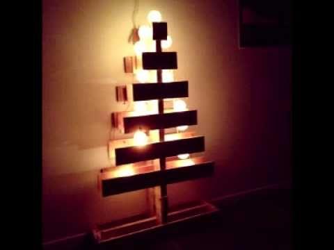 ideas árbol de navidad con palets, pallet christmas tree - YouTube