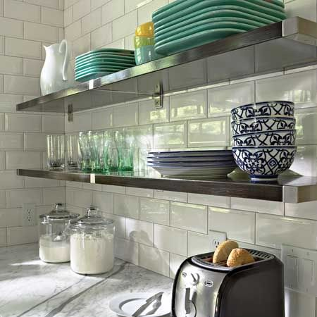 love this! But glass subway tile