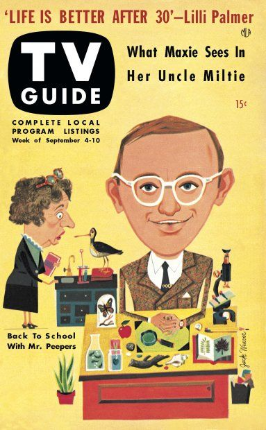 TV Guide, September 4, 1953 - Wally Cox as Mr. Peepers