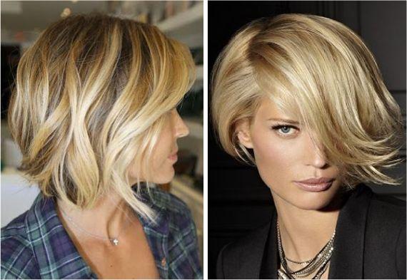 Короткие прически для русых волос