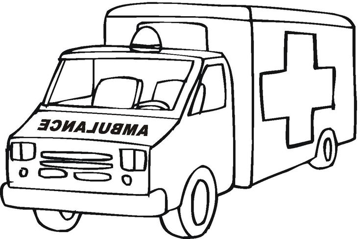 Ambulance coloring pages preschool