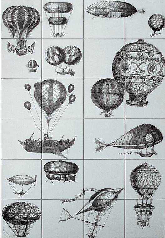fornasetti ceramica bardelli - macchine volanti