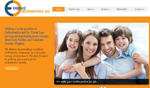 Launched this new #ResponsiveWebsite today for a long-time client; http://embraceorthodontics.com/
