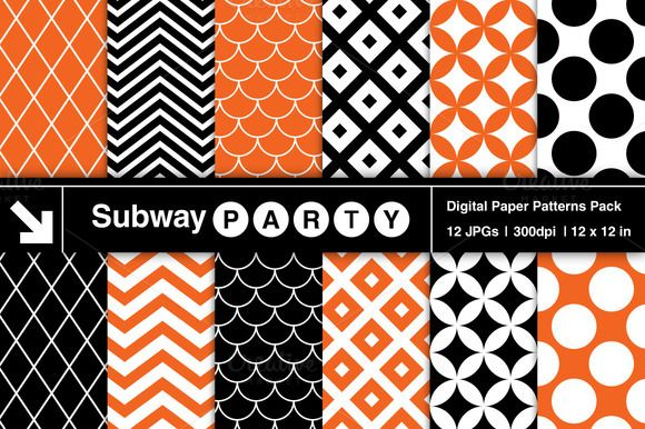 Check out Halloween Retro Geo Patterns by SubwayParty on Creative Market