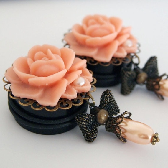 1 3/16 inch 30mm Peach Princess Plugs For Stretched by Glamsquared, $45.00