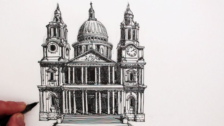 Cathedral Step Paul S Cathedral Draw Buildings Famous Buildings