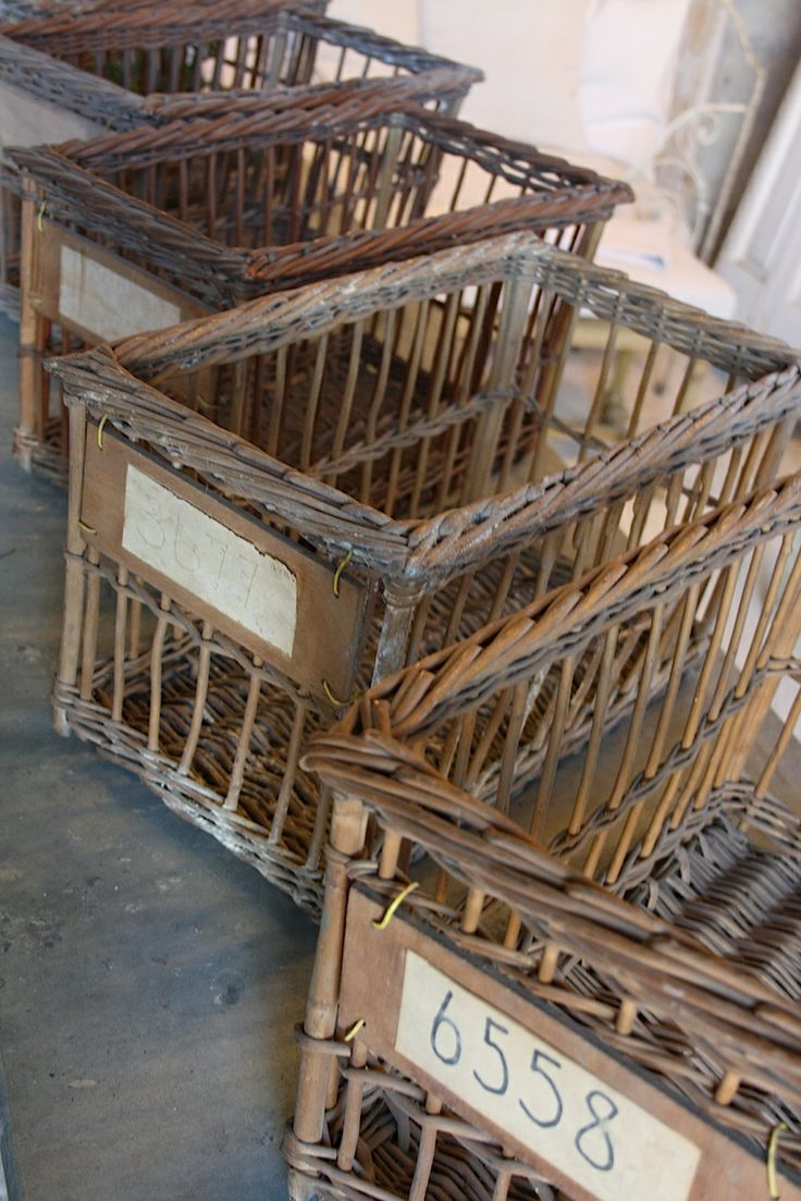 baskets - I would LOVE to have these!