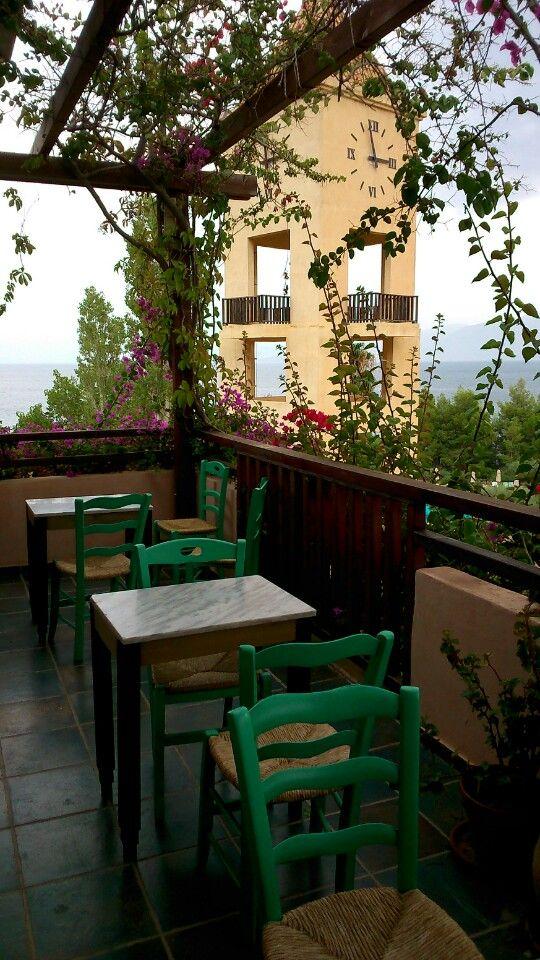 The view from #Kafeneion Candia Park Village Zizis #Crete #AgiosNikolaos
