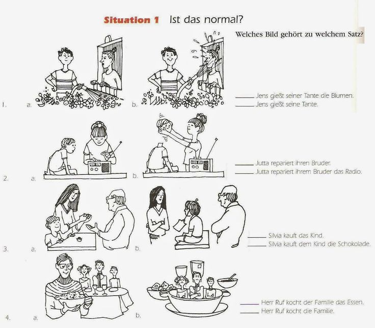 The German Sektor: Dative Case: Using Visuals