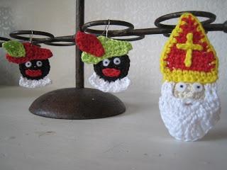 DIY SInterklaas Head Ornament....instructions in Dutch