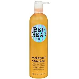 bed head moisture maniac moisturizing shampoo $11