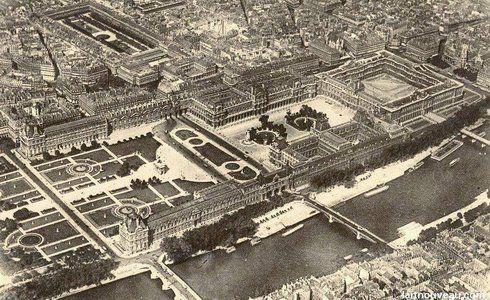 Le Louvre en 1900