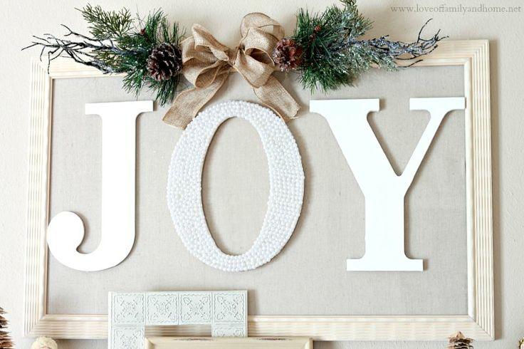 Love Of Family Home Framed Joy Sign For My Mantel
