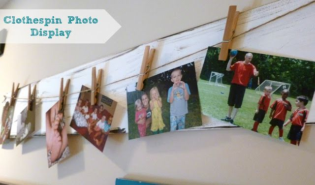 Feathers & Sunshine: Clothespin Photo display
