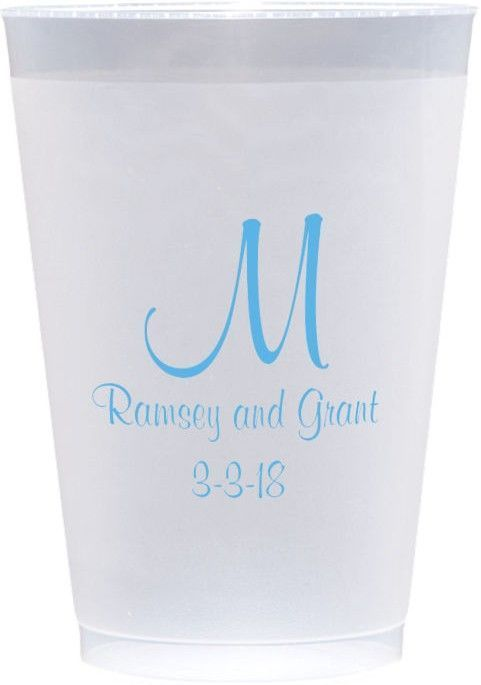 12 Oz Reusable Custom Printed Frosted Plastic Cups Set Of 25 In