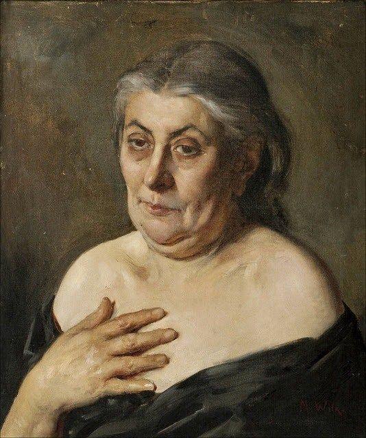 Old woman-Vanha Nainen, Maria Wiik (1853-1928)
