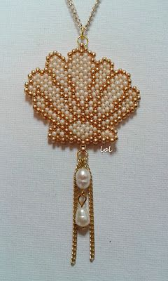 BEADS and GEMS by LPL - Handmade seashell pendant - Seashell collection…