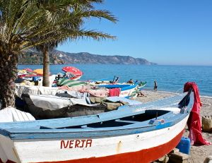 fishing boats on Burriana Beach, Nerja