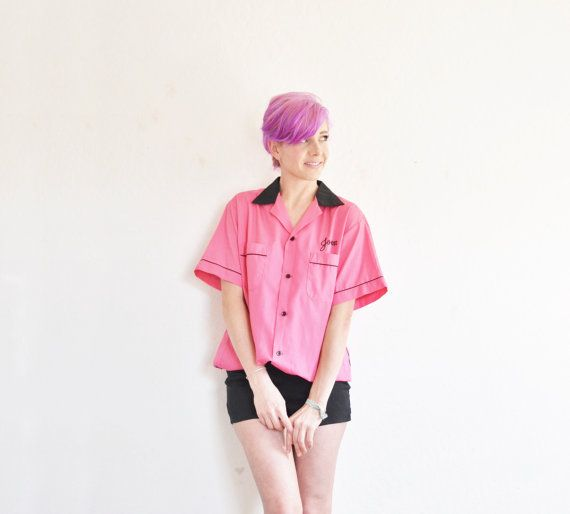 Joan from Frenchys Ice Cream shirt . retro pink drive in by DOTTO