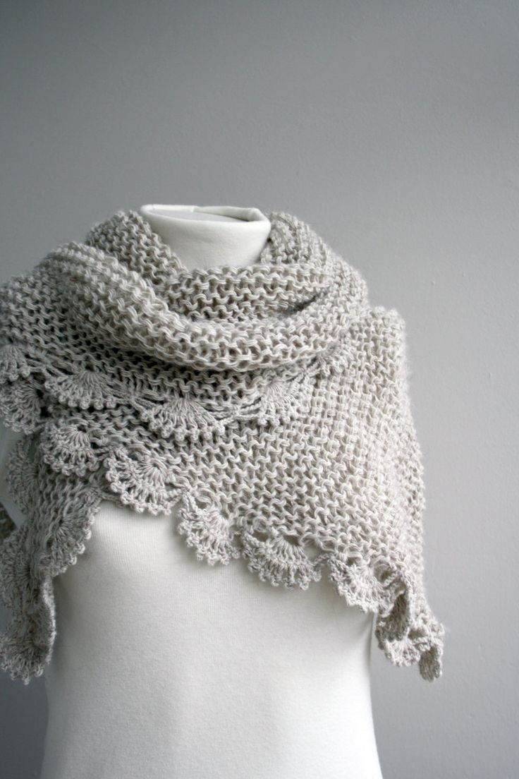 Free Shipping Handmade Beige Triangle  Midi Shawl scarf collar Capelet Cowl Valentines Day gift. $54.00, via Etsy.