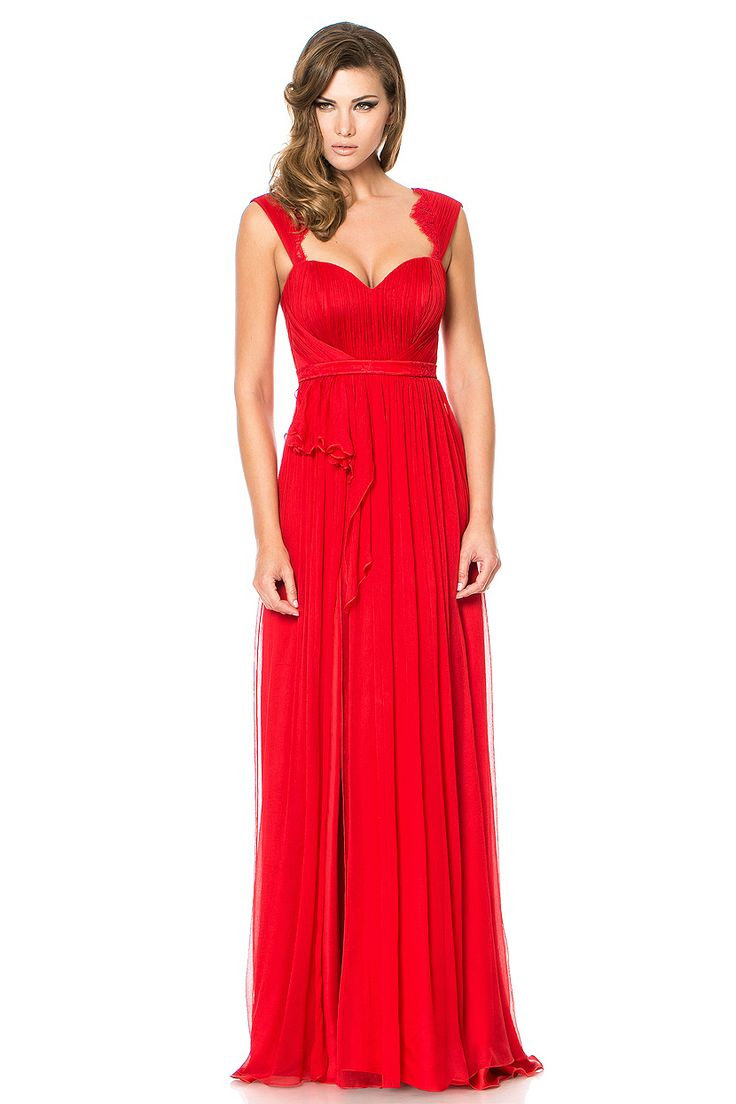 Red is for passion. Cristallini cocktail dress for exquisite events.