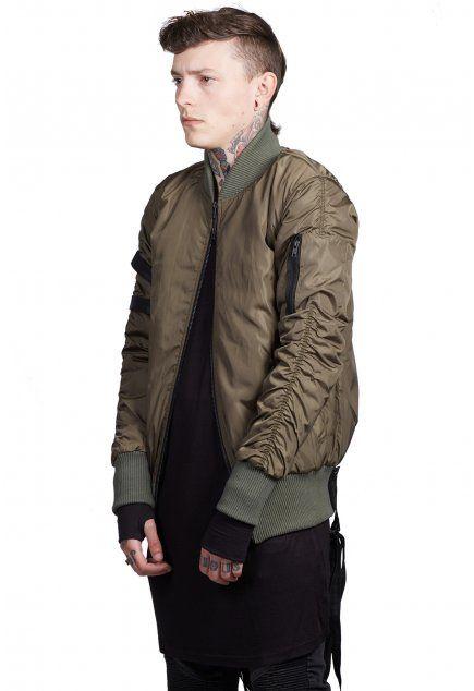 Strapped Bomber Jacket / Olive - from Other UK Clothing Ltd UK