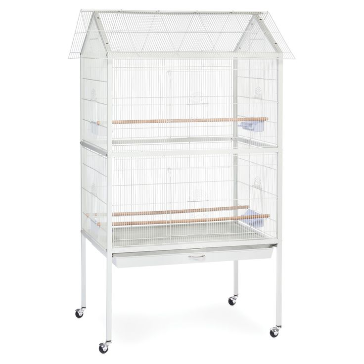 Prevue Pet Products White Aviary Flight Cage with Stand - F030 - F030