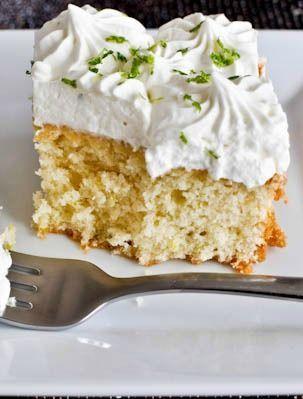 Lemon Lime Cake with Fresh Lime Whipped Cream. | howsweeteats.com