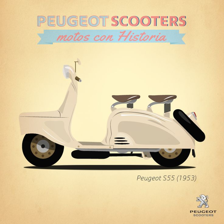 Peugeot scooter, vintage scooter, retro scooter peugeot s55