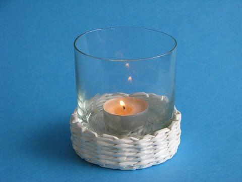 Woven candlesticks. Part 1.