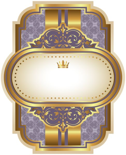 Purple Luxury Label Template Clipart Image